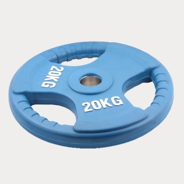 Олимпийский диск евро-классик с тройным хватом 20 кг. (0)